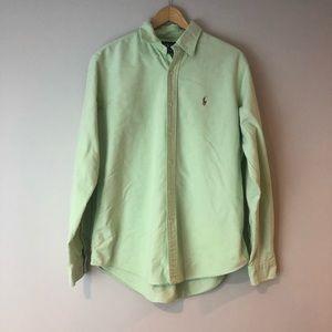 Ralph Lauren mint green pony button down L